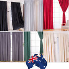 AU Modern Panel Solid Lined Thermal Blackout Grommet Window Curtain Drape 6Color
