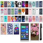 For Nokia Lumia 735 TPU SILICONE Soft Protective Phone Case Cover + Pen