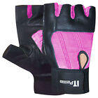 Weight Lifting Body Building Gym Exercise Gloves Leather Palm LADIES XS,S-M,L-XL