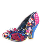 Womens Irregular Choice Make My Day Blue Pink Bright Court Shoes Size