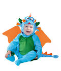 Baby Toddler Dragon Costume Kids Fancy Dress Outfit Age 6-12 & 12-24 Months NEW