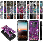 For Alcatel Revvl A30 Fierce 2017 Walters Hybrid Duty Kickstand Case Cover + Pen