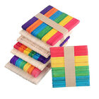 50pcs Wooden Popsicle Sticks for Party Kids Toy DIY Crafts Ice Cream Pop MSYG
