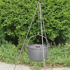 LOT Outdoor Camping Campfire Alloy Tripod Grill Hanger Cooking Picnic Hold 9 Rod