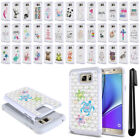 For Samsung Galaxy Note 5 N920 Crystal Bling HYBRID Case Protective Cover + Pen