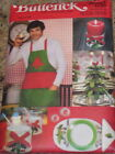 UNCIRCULATED 1978 BUTTERICK #5092 - CHRISTMAS TABLE SETTING - APRON PATTERN FF