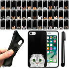 "For Apple iPhone 8, iPhone 7 4.7"" Cat Design TPU Black SILICONE Case Cover + Pen"