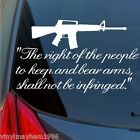 US 2nd Amendment AR15 vinyl sticker car truck window decal Rights of the people