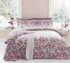 'Malinda' Floral Duvet Covers Modern Flower Print Cotton Blend Bedding Set Pink