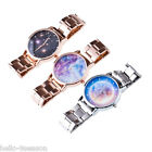 Fashion Band Star Sky Dial Steel Women Quartz Calendar Waterproof Wrist Watch