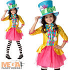 Mad Hatter Girls Fancy Dress Book Day Alice in Wonderland Childrens Kids Costume