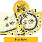 BUSY BEES Birthday Party (Tableware, Balloons and Decorations) (1C)