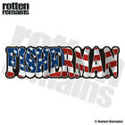 Fisherman Decal American Flag USA Bass Walleye Fishing Gloss Sticker HVG