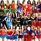 Superhero Ladies Fancy Dress Marvel DC Comic Book Day Womens Adults Costume New