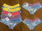"6 or 12 PACK Sofra Women's  ""Heart"" Print & Logo Poly Thong  Underwear #LP7287PT"