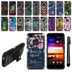 dragonfly phone - For ZTE Blade X Z965 Hybrid Duty Heavy Kickstand Phone Case Cover + Pen