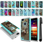 For ZTE Blade X Z965 Hybrid Bumper Hard TPU Protective Phone Case Cover + Pen