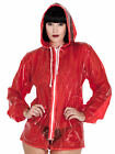 PVC U Like Women's Sexy Jelly Jacket Coat in Plastic with Drawstring Hood