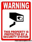 Warning This Property Protected by Security System Sign. Size Option. Video
