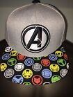the avengers cap - INFINITY WAR The Avengers 4 BLACK Panther MARVEL movie MEN'S SnapBack HAT Cap