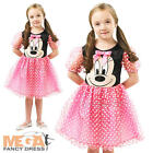 Pink Puffball Minnie Mouse Girls Fancy Dress Disney Cartoon Kids Childs Costume