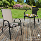 2PK Chair Cushion Seat Pad Outdoor Tie On Garden Patio Furniture Removable Cover