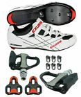 EXUSTAR SR493 SPD SL Look Road Bike Bicycle shoes VENZO Sealed Pedals
