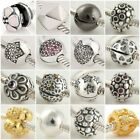 Authentic Solid 925 Sterling Silver Charms L fit European Bead Charm Bracelets