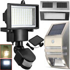 Solar Powered PIR Motion Sensor Flood Garden Outdoor Security Wall Light Lamp UK