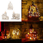 DIY Creative LED Light Tabletop Wooden Decorations Home Office Adornment Gift
