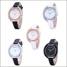 Delicated Fashion Women Slim Leather Analog Waterprof Quartz Dress Wrist Watch