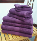 Aubergine Plum Bobble Cotton Towels Face Hand Bath Towel & Bath Sheet Available