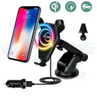 The Best QI Wireless Car Phone Fast Charger Mount For iPhone 8 Plus X Samsung S8