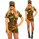 Combat Army Soldier Sexy Officer Bullet Camo Uniform Halloween Hen Party