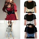 Women Elastic Wide Corset Tie High Waist Slim Belt Vest Style Waistband 5 Colors