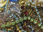 100% SWAROVSKI RHINESTONE ROPE LONGER CHAINS SETTINGS LOT VTG NOS JEWELRY CRAFTS