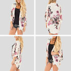 Plus Size Women Casual Kimono Cardigans Oversize Loose Shirt Printing Fashion US