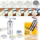 Stainless Steel Manual Noodle Maker Fresh Pasta Spaghetti Home Use Machine US