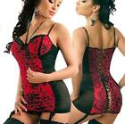 Lingerie Bustier Chemise With Garters Thong BabyDoll- PLUS 6XL 7XL 8XL