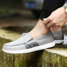 Mens Loafers Canvas Casual Flats Driving Boat Slip On Breathable Comfy Shoes