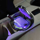 Auto Car Portable Ashtray Smokeless Stand Cylinder Cup Holder &Blue LED Light