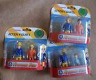 FIREMAN SAM - Pack of 2 Characters - 2 Different Packs - New
