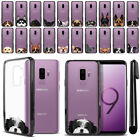 "For Samsung Galaxy S9 Plus/ S9+ 6.2"" Dog Clear TPU Black Bumper Case Cover + Pen"