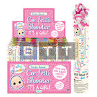 20cm Its A Girl Confetti Shooter Party Time Birthday Wedding Mixed Tissue Paper