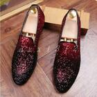 New Men's Sequins Round Toe Slip On Casual 3Color Moccasin Bling Nightclub Shoes
