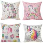 Creative Rainbow Animal Printing Square Pillow Case Cotton Linen Pillowslip