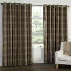 WOOL touch Heavy Lined TARTAN Tweed Plaid Curtains Red Natural PATIO LIVING