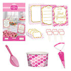 PINK BUFFET Birthday Party Tableware, Banners, Balloons & Decorations (1C)