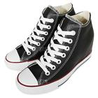black womens converse shoes - Converse Chuck Taylor All Star Lux Leather Black Womens Wedges Shoes 549559C
