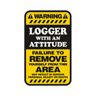 Logger Warning Yellow Decal Lumberjack Logging Hard Hat Gloss Sticker HVG